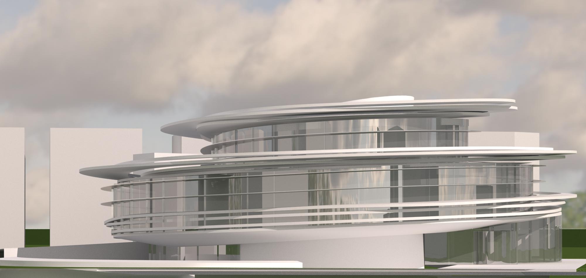 Serra building 3d model max for 3d max building