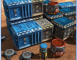 SciFi Base Props Pack 02 3D model