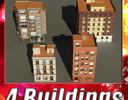 Building Collection 45-48 3D asset