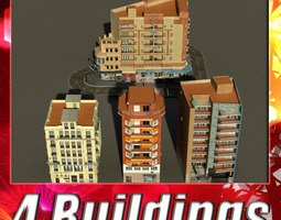 3d model realtime building collection 49-52