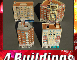 Building Collection 77-80 3D Model