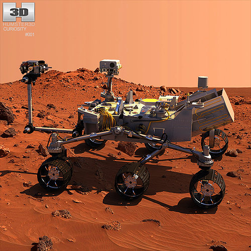 curiosity mars rover 3d model max obj 3ds fbx c4d lwo lw lws 1
