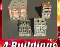 3D asset Building Collection 81-84