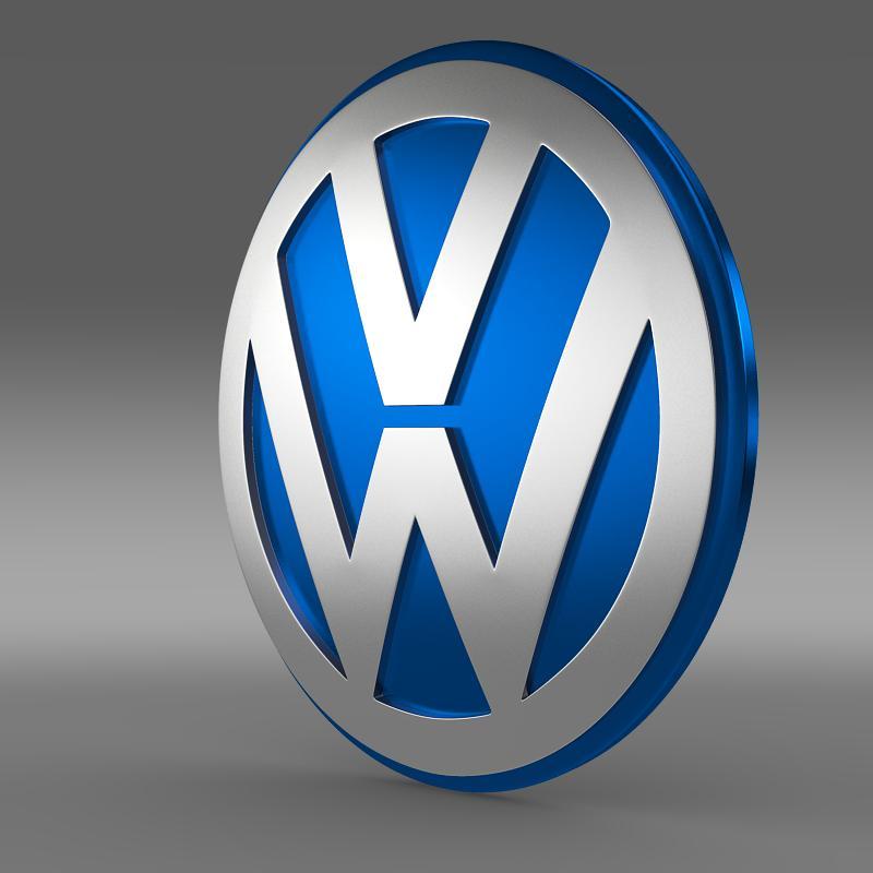 volkswagen group logo 3d model max obj 3ds fbx c4d lwo lw lws. Black Bedroom Furniture Sets. Home Design Ideas