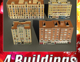 Building Collection 101-104 3D Model