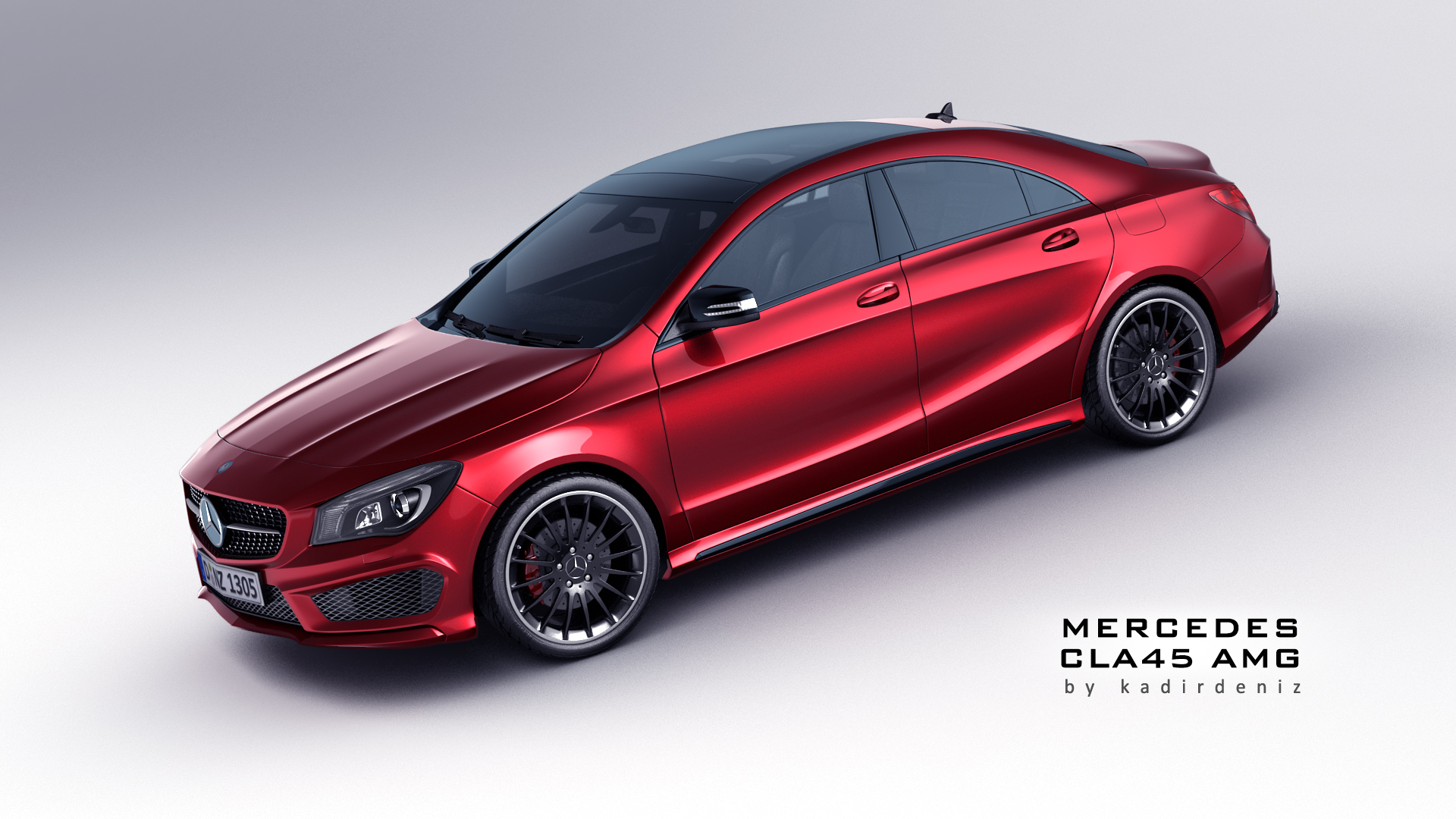 mercedes cla 45 amg 3d model max obj fbx. Black Bedroom Furniture Sets. Home Design Ideas