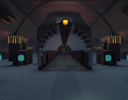 3d sci-fi dome - big room