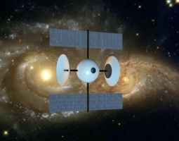 space probe ii 3d model obj 3ds mtl