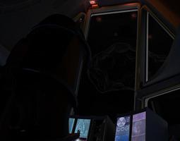 space shuttle cockpit 3d model max fbx
