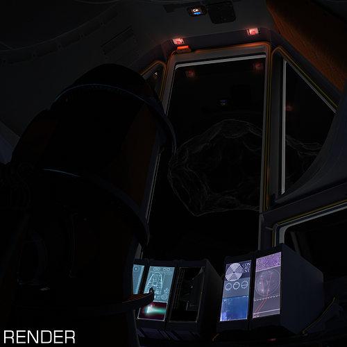 space shuttle cockpit 3d model animated max fbx tga unitypackage prefab 1
