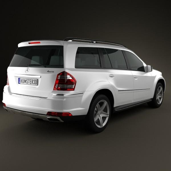 Mercedes benz gl class 2010 3d model max obj 3ds c4d for 2010 mercedes benz gl class suv