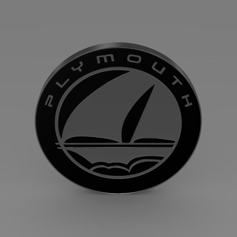 Plymouth Logo 3d Model Max Obj 3ds Fbx C4d Lwo Lw