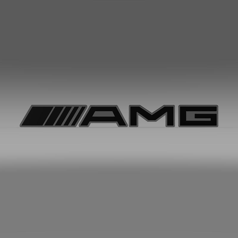 amg logo 3d model max obj 3ds fbx c4d lwo lw lws. Black Bedroom Furniture Sets. Home Design Ideas