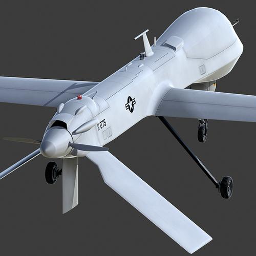 MQ-1B Predator 3D Model MAX 3DS FBX C4D