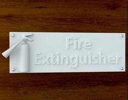 Fire Extinguisher Sign 3D Model