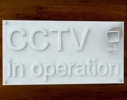 CCTV Sign 3D Model