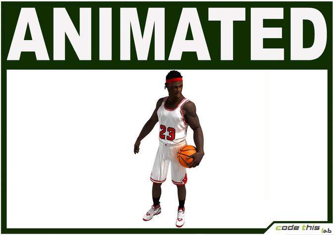 Black Basketball Player Animated3D model