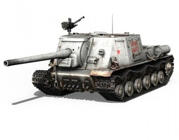 ISU-122 - Soviet self-propelled gun 3D Model