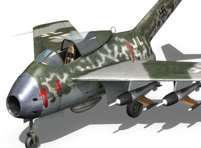 Focke Wulf TA 183 Huckebein3D model