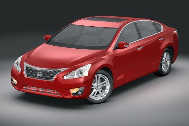 3d model 2013 nissan altima cgtrader. Black Bedroom Furniture Sets. Home Design Ideas