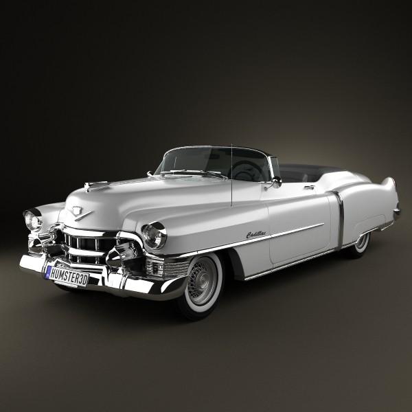 Cadillac Eldorado Convertible 1953 3D Model .max .obj .3ds