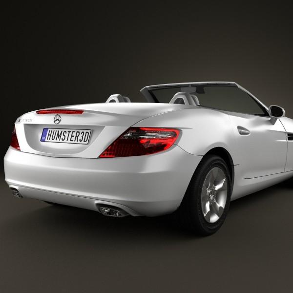 Mercedes-Benz SLK-Class R172 2012 InShare 3D Model MAX OBJ