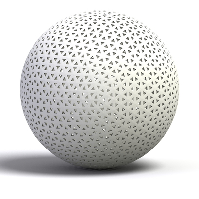 sphere triangle cut smooth 3d model 3d printable