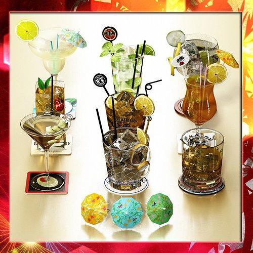 9 cocktails collection 3d model max obj mtl 3ds fbx 1
