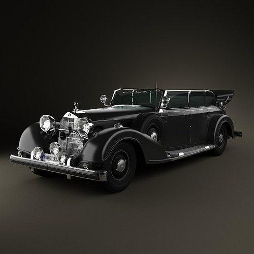 mercedes-benz 770k 1936 3d model max obj mtl 3ds fbx c4d lwo lw lws 1