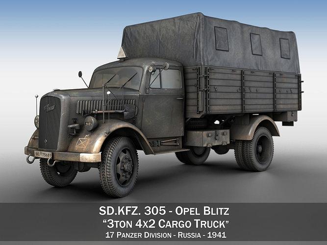 Opel Blitz - 3t Cargo truck - 17 PzDiv