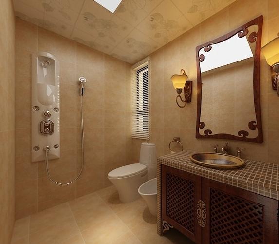 Classic bathroom 3d model max for New bathroom models