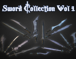 Sword Collection Vol 1 3D model