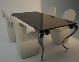 dining set cantori 3d model