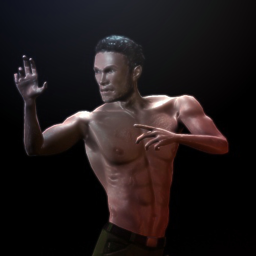 Arrow Workout Rigged3D model