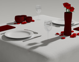 Table for Two 3D Model