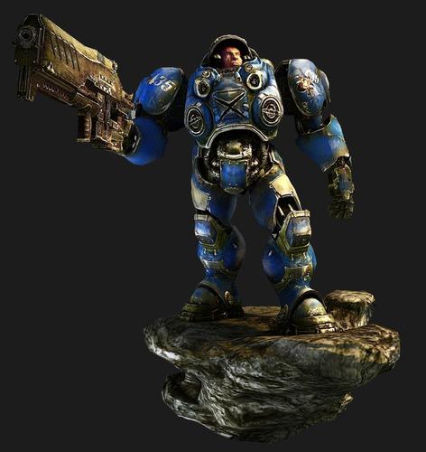 StarCraft Soldier 3D Model MAX