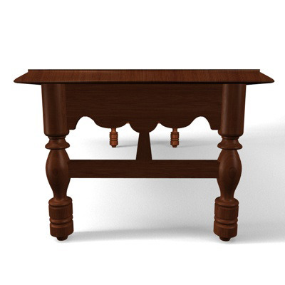 Coffee Table 3d Model Obj 3ds Fbx C4d Dxf