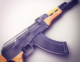 AK47 Assault Rifle Hi-Res 3D Model