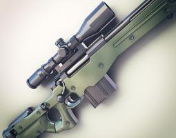 AWM Sniper Rifle Hi-Res 3D Model