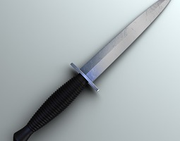 Fairbairn-Sykes Knife Hi-Res 3D Model