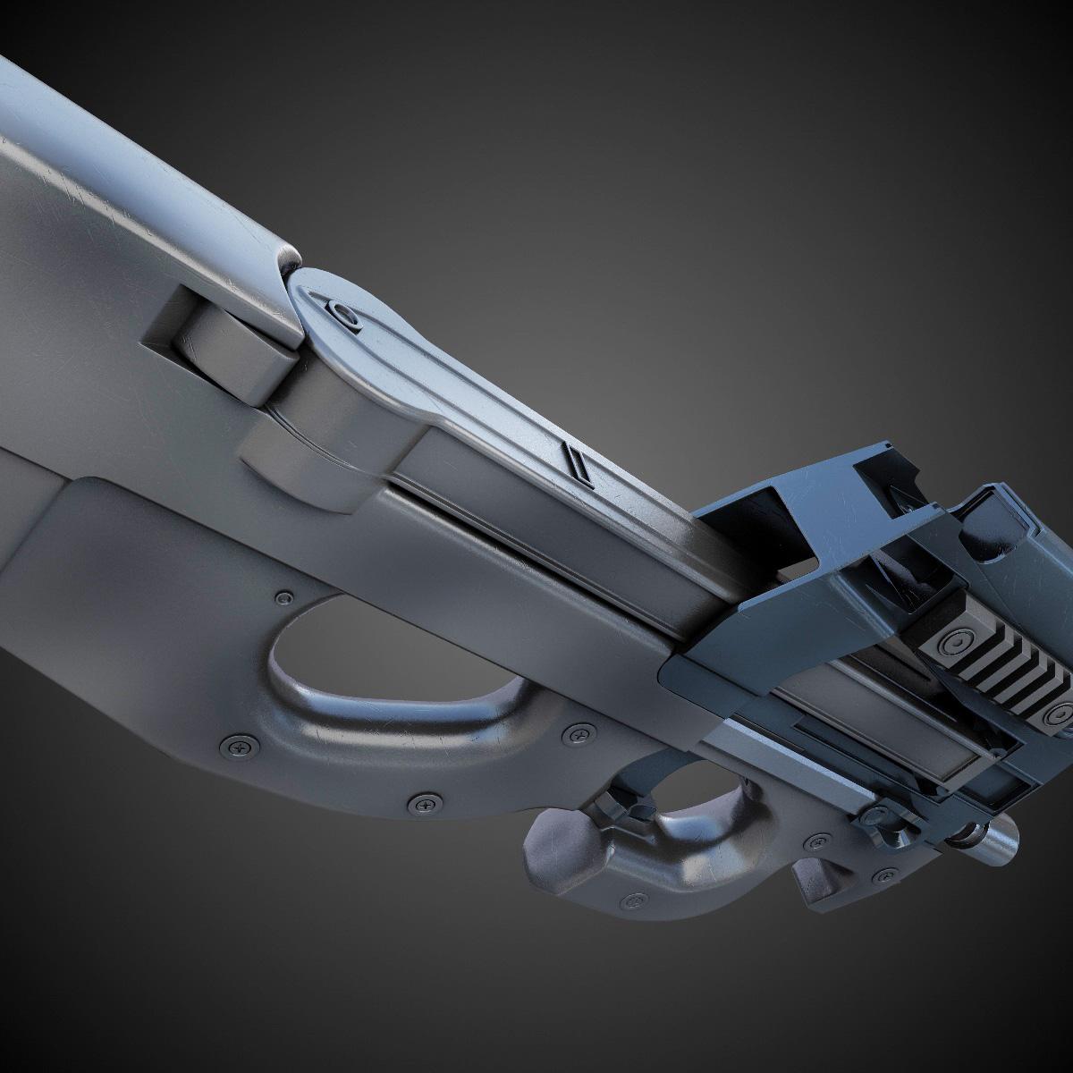 FN P90 SMG Hi-Res