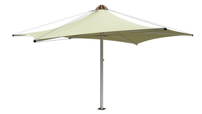 pvc umbrella 3d model max fbx 1