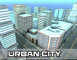 3D asset Urban City