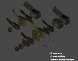 Ammo Boxes Belt Links 3D Model