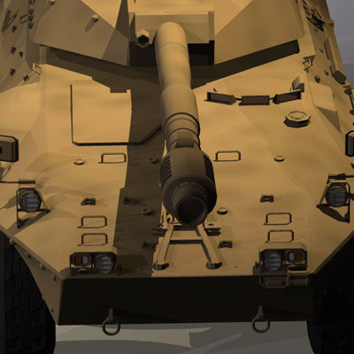 Centauro B1 tank destroyer3D model