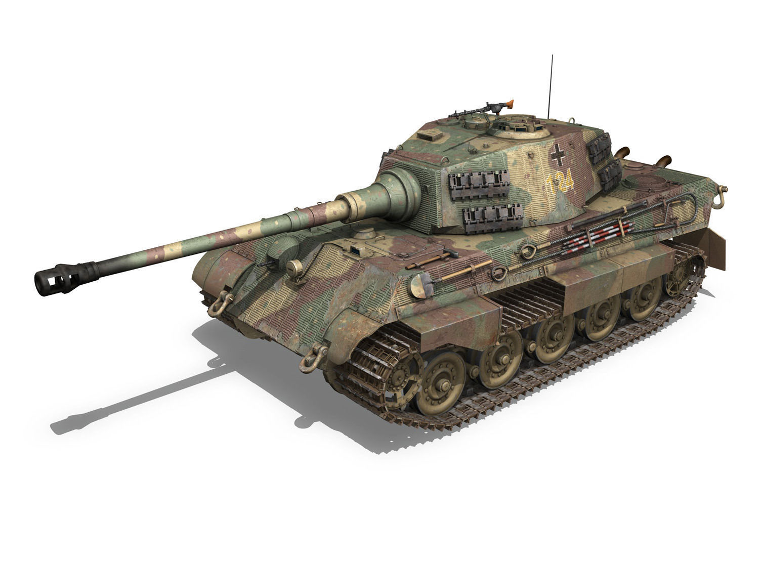 panzerkampfwagen vi ausf b tiger ii 3d model. Black Bedroom Furniture Sets. Home Design Ideas