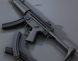 3d submachine gun mp5