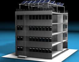 3d model ecological building