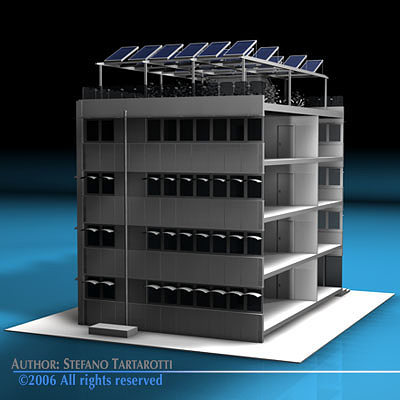 ecological building 3d model obj 3ds c4d dxf 1