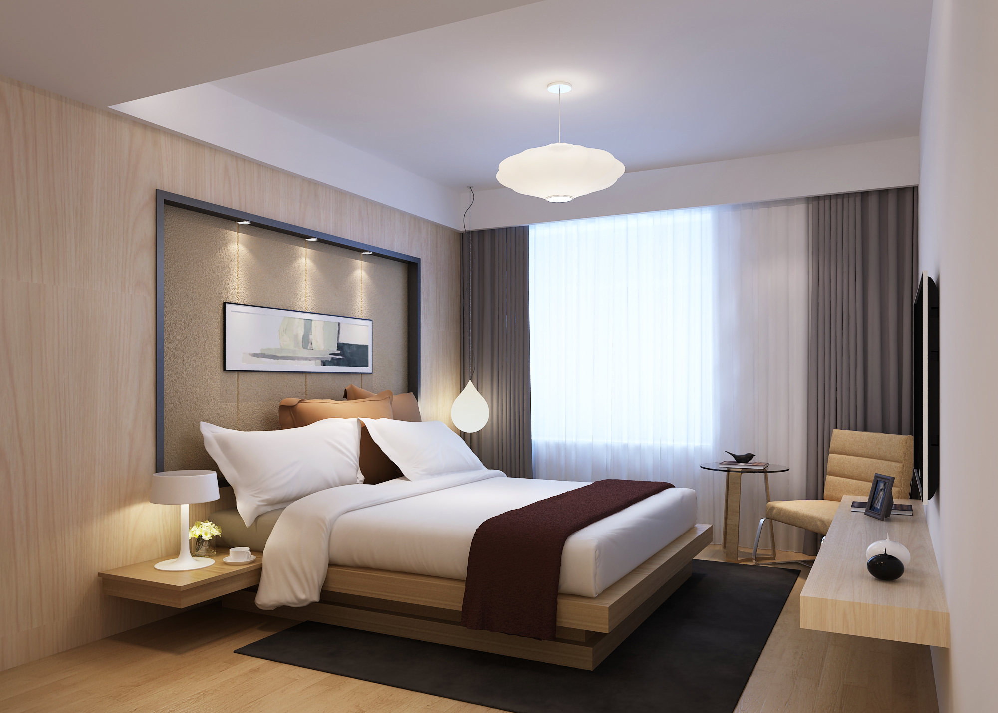 Modern bedroom 3d model max - Images of modern bedrooms ...